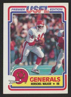 d016b34ca 1984 Topps USFL Herschel Walker  rookie  heisman New Jersey Generals