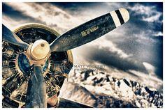 Aviation Photography, Vintage DC-3 Engine, Metallic Print