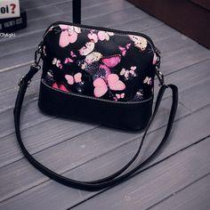 Fashion Women's Faux Leather Satchel Print Messenger Bag  Elegant  Shoulder  Bag #Unbranded #MessengerCrossBody
