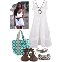 """southwest meets beach"" by lisabead on Polyvore"