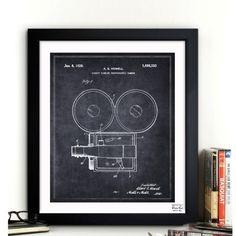 Framed Wall Art Blueprint Vintage Drawings Hanging 100% USA Illustration Office
