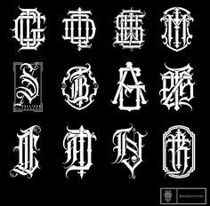 Gothic Lettering, Chicano Lettering, Graffiti Lettering Fonts, Tattoo Lettering Fonts, Typography Letters, Typography Logo, Lettering Design, Logo Design, Branding Design