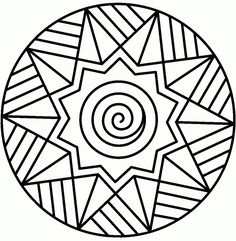 Mandalas bring relaxation and comfort to adults all over the world. Mandalas are one of our favorite things to color. Kids can color them too! We have some more simple mandalas for kids to color. Mandalas for Kids Geometric Coloring Pages, Easy Coloring Pages, Printable Adult Coloring Pages, Mandala Coloring Pages, Coloring Sheets, Coloring Pages For Kids, Coloring Books, Kids Coloring, Mandala Design