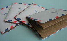 Airmail Envelope Pocket Notebook. $8.00, via Etsy.