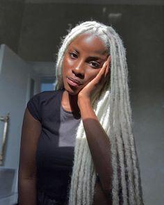 Faux Locs Hairstyles, Black Girl Braided Hairstyles, Black Girl Braids, Baddie Hairstyles, Girl Hairstyles, Dreads Black Women, Black Girls With Dreads, Curly Hair Styles, Natural Hair Styles