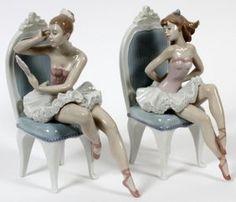 Lladro Porcelain Figures Of Ballerinas, Two
