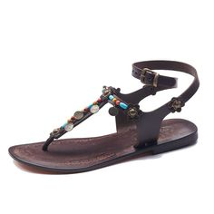 Handmade Leather Ankle Wrap Sandals