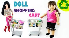 How to make a doll shopping cart - Easy Doll Crafts Learn how to make a shopping cart for any doll: barbie, monster high, ever after high,equestria girls,liv...