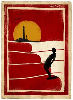 Barbados Surfing conditions are ideal for any level of surfer. Barbados is almost guaranteed to have surf somewhere on any given day of the year. Poster Surf, Retro Poster, Vintage Posters, Surf Posters, Surf Vintage, Vintage Surfing, Kitesurfing, Deco Surf, Art Plage