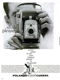 Polaroid vintage advertisment