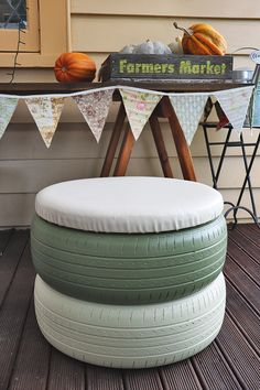 DIY project: Upcycle old tyres into a cute seat - thisNZlife