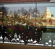 ABSB01N6G7AH3,662712192482,Totomo Christmas Window Decorations Decals - Winter Holiday Clings Stickers Snowflakes Snow Christmas Town W301,,Christmas Day Products,Gifts Products