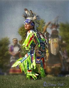 Young grass dancer at Sheridan rodeo activities. Photo by Diana Volk