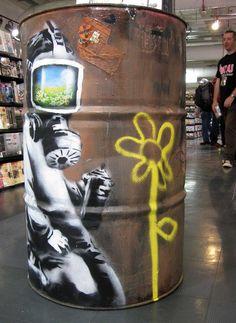 Banksy: HMV Oxford Street, London