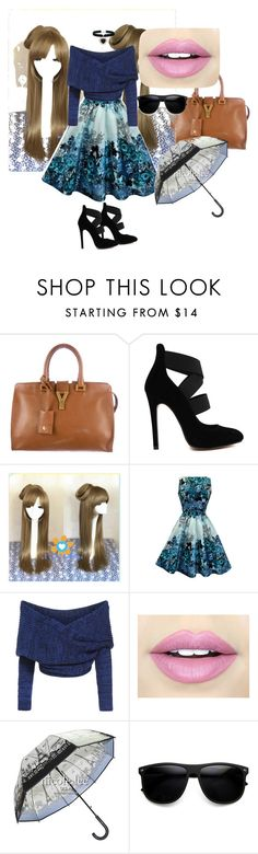 """""""Blue glamour"""" by charlie-aw-easter on Polyvore featuring Yves Saint Laurent, Fiebiger, ZeroUV and Rock 'N Rose"""