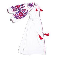 Poppy Flower mid-calf dress in white - MARCH11  - 1