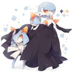 Shiny Kirlia and Gardevoir