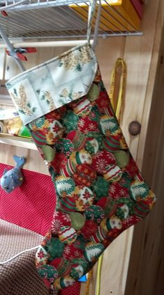Christmas stocking made from a pattern provided by Made to Sew
