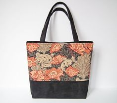 Tote Bag Shopper Day Bag Work Bag Multi-Purpose by CiesseTextiles