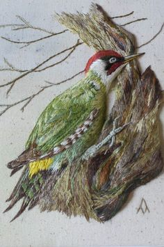 ♒ Enchanting Embroidery ♒ Embroidered Woodpecker - New Embroidery Group