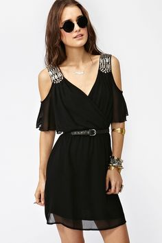 """Love the dress, hate the glasses. """"Total Stud Dress"""" from nastygal.com"""