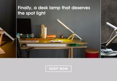 Light is cool, but I'm diggin' the desk more. Aaron Leahy Tri Light on Fab - Fab is Everyday Design.