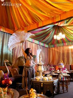 Moroccan inspired wedding decoration