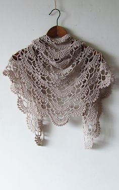 Discover thousands of images about Anna Shawl Crochet Pattern PDF Shawl Crochet, Crochet Shawls And Wraps, Crochet Scarves, Crochet Clothes, Crochet Lace, Free Crochet, Crochet Flower, Irish Crochet, Crochet Doilies