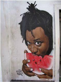 Artist: Cheko in Granada, Spain #Espanha  Street Art (Arte de Rua)