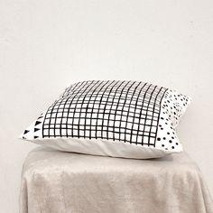 Decorative Pillow cover, Geometric Pillow Case, Kids Pillows Case, Black and White Pillow Case C3