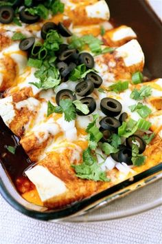 Cheese Enchiladas - made with California chiles only and added ancho chiles, cayenne, and chili powder