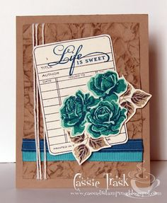 A Day in the Life of a Homeschooling Mom: PTI August Blog Hop.  Great idea--library card with rose trio