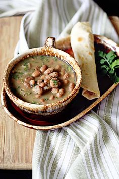 Borracho Beans {pinto beans in broth}