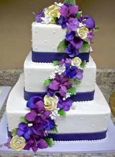 Wedding Cake Inspiration Via Buffalobrides Royal Purple Colors