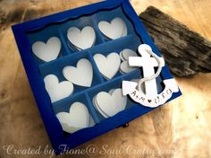 Personalized Beach Wedding Wooden Hearts by SoulCraftyGarden, £45.00