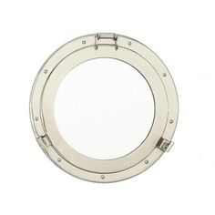 Nantucket Brand Nickel Porthole Mirror  #homedecor #nautical