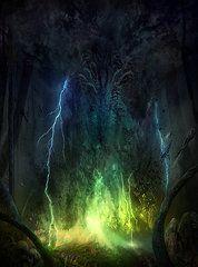 Magic The Gathering Prints - Bleak Swamp Print by Philip Straub