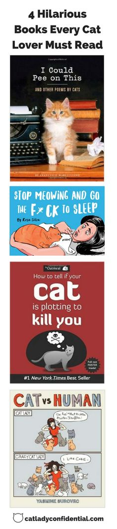 Funny cat books - perfect gifts for cat lovers