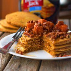 Butternut Squash Pecan Pancakes