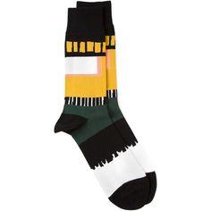 HENRIK VIBSKOV 'Cayenne' socks (1.770 RUB) ❤ liked on Polyvore featuring intimates, hosiery, socks, accessories, socks and tights, henrik vibskov, multi colored socks, colorful socks, henrik vibskov socks and multicolor socks