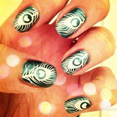 PEACOCKS #nail #nails #nailart