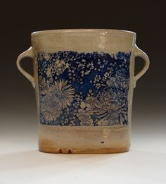 graphandcompass: Blue Flower Vase (by mitch kimball)