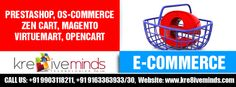 Kre8iveminds Technologies Pvt. Ltd. offers the best eCommerce services in India at affordable cost with experienced professionals from the industry!  http://www.kre8iveminds.com/