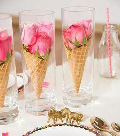 Flower icecream? No, an awesome table decoration!  | Мороженое из цветов? Нет! Всего лишь шикарный способ украшения праздничного стола