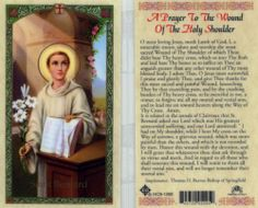 2 Prayer Cards Saint Bernard, A Prayer To The Wound Of The Holy Shoulder Card