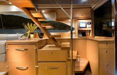 Riviera 50 Enclosed Flybridge with IPS | Staircase Detail