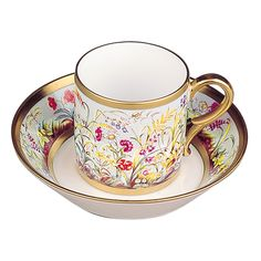 'Litron Cup & Saucer ~ Wildflowers,' The Historical Cups and Saucers Collection at Bernardaud.