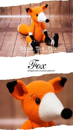 Crochet Dinosaur Patterns, Baby Patterns, Crochet Patterns, Crochet Fox, Cute Crochet, Crochet Hats, Doll Toys, Dolls, Baby Dinosaurs