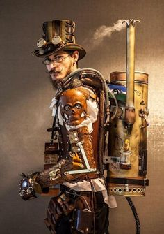 Safari Steampunk Anyone? Steampunk is a rapidly growing subculture of science fiction and fashion. Steampunk Cosplay, Steampunk Suit, Steampunk Mode, Chat Steampunk, Steampunk Accessoires, Style Steampunk, Steampunk Gadgets, Steampunk Design, Gothic Steampunk