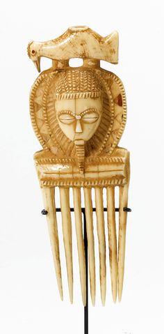 Côte d'Ivoire ~ Peigne (Comb) ~ Baule people ~ Ivoire